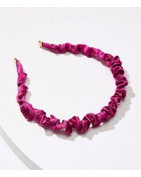 LOFT Scrunched Headband - Purple