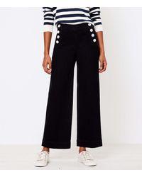LOFT Wide Leg Sailor Jeans In Black
