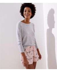LOFT - Walrus Pajama Shorts - Lyst