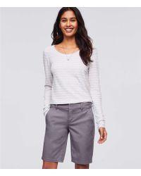 LOFT - Petite Bermuda Roll Shorts - Lyst