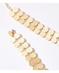 LOFT Sunglow Statement Necklace - Metallic