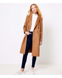 LOFT Plus Double Breasted Coat - Brown