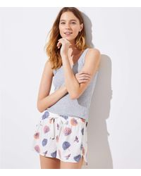 LOFT - Hummingbird Pajama Shorts - Lyst