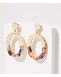 LOFT Half Resin Drop Earrings - Multicolour