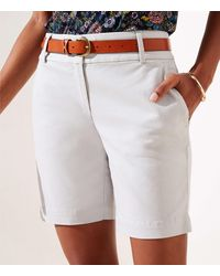 LOFT Riviera Shorts With 8 Inch Inseam - Grey