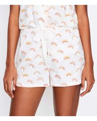 LOFT Rainbow Pyjama Shorts - White