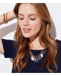 LOFT - Dangling Stone Necklace - Lyst