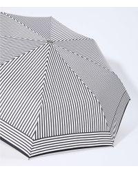 LOFT Striped Umbrella - Black