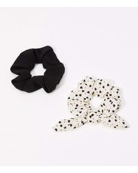 LOFT Heart Scrunchie Set - Black