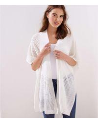 LOFT Crochet Kimono - White