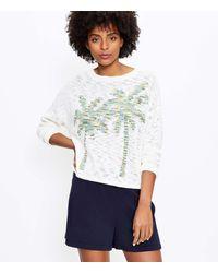 LOFT Lou & Grey Palm Tree Jumper - White