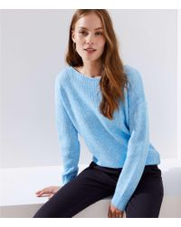 LOFT - Cable Back Sweater - Lyst