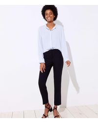 LOFT Slim Pants In Curvy Fit - Black