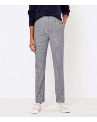 LOFT Slim Pants In Check - Gray