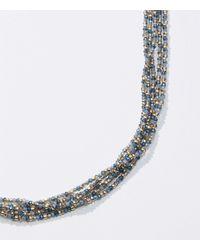 LOFT Beaded Multistrand Necklace - Blue