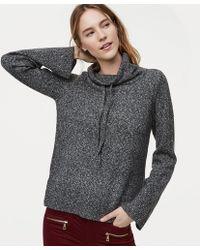 LOFT | Petite Drawstring Neck Sweater | Lyst