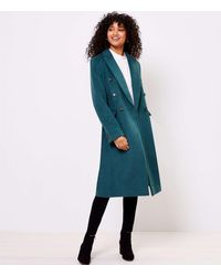 LOFT Double Breasted Coat - Blue