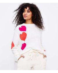 LOFT Lou & Grey Heart Sweater - Multicolour
