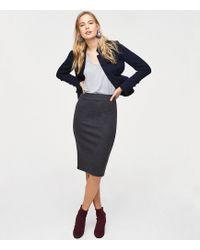 LOFT - Petite Long Pull On Pencil Skirt - Lyst