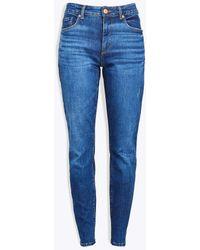 LOFT Curvy Skinny Jeans In Rich Authentic Indigo Wash - Blue