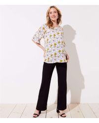 LOFT - Maternity Trousers In Doubleweave - Lyst