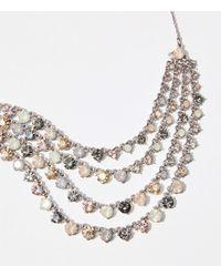 LOFT Beaded Statement Necklace - Metallic