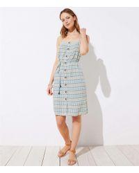 b7e93f64f Forever 21 Mosaic Print Peasant Dress in Blue - Lyst