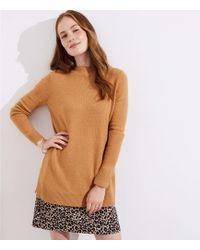 LOFT - Petite Mock Neck Tunic Sweater - Lyst