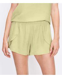 LOFT Silky Pyjama Shorts - Green