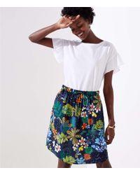 LOFT - Tall Tropicalia Tie Waist Pocket Skirt - Lyst