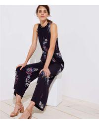 LOFT - Bouquet Tie Waist Jumpsuit - Lyst