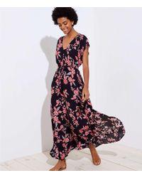 LOFT - Beach Floral Bar Back Maxi Dress - Lyst