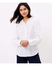LOFT - Clip Henley Shirt - Lyst