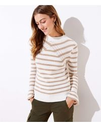 LOFT Striped Flare Sleeve Jumper - Multicolour