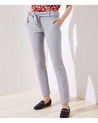 LOFT Petite Slim Tie Waist Pencil Pants In Curvy Fit - Gray