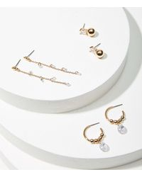 LOFT Sparkle Earring Set - Metallic