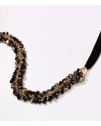 LOFT Bauble Ribbon Necklace - Black