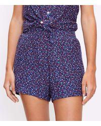 LOFT Lou & Grey Star Crinkleknit Shorts - Blue