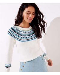 LOFT Modern Fairisle Jumper - Blue
