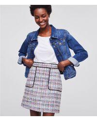 LOFT - Tweed Pocket Shift Skirt - Lyst