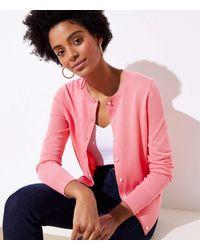 LOFT Signature Cardigan - Pink