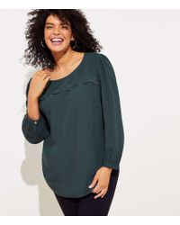 LOFT - Plus Eyelet Cutout Back Blouse - Lyst