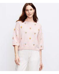 LOFT Ice Cream Jumper - Pink