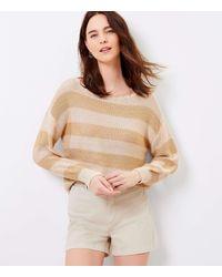 LOFT Striped Boatneck Sweater - Multicolour
