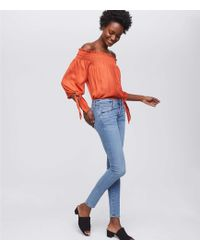 LOFT - Modern Softest Skinny Jeans In Classic Light Indigo Wash - Lyst