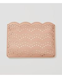 LOFT - Perforated Clutch - Lyst