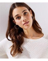 LOFT - Hoop Earrings - Lyst