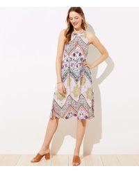 LOFT Tapestry Halter Dress - White