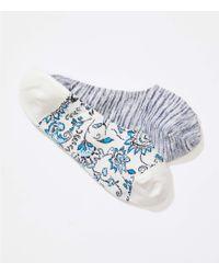 LOFT - Floral & Spacedye No Show Sock Set - Lyst