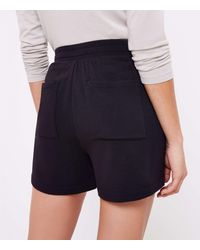 LOFT Petite Lou & Grey Signature Softblend Drawstring Shorts - Black